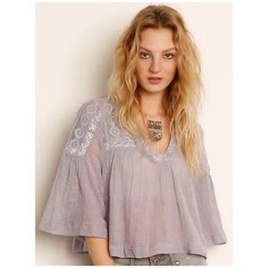 Free People • carry me away crop gauze top